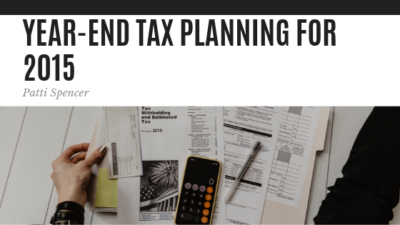 Year-End Tax Planning - Patti Spencer