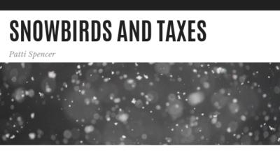 Snowbirds and Taxes - Patti Spencer